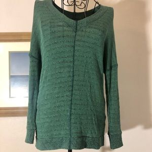 Sparkle and Fade Small Green Knit Sweater